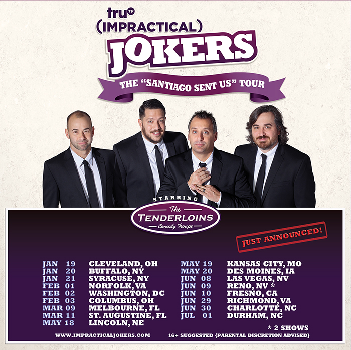 The tenderloins the santiago sent us tour is coming back in 2018 with a whole new list of cities and just added st augustine on march 11th m4hsunfo